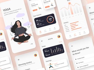 yoga app dribbble uiux uxdesign ux uidesigner ui mobile minimal ios icon design app design app android adobe xd