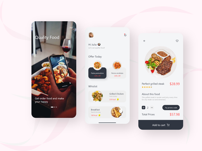 Food Delivery App uxdesigner uxdesign uiux uidesign ui designer ux ui minimal design app design app android adobe xd