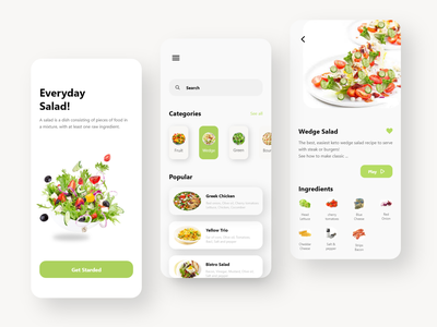 Salad App design icon webdesigner webdesig web appdesigner app design app minimal uxdesigner uidesigner uxdesign uidesign uiux ux ui