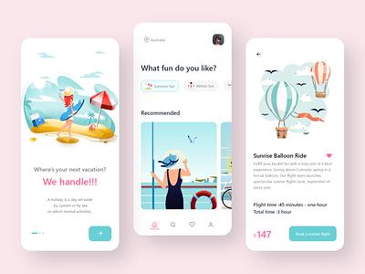 Trip App android icon uiux uxdesigner ui designer illustration uxdesign uidesign ux ui minimal design app design app
