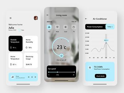 Smart Home App dribbble uxdesigner uidesigner uxdesign uidesign uiux ux ui illustration icon minimal design app design app