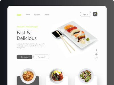 Learn to cook WEB DSIGN uxdesigner uidesigner website design website uxdesign uidesign uiux ux ui minimal design web design web