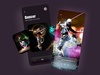 Dance App Design user experience user interface dribbble uxdesigner uidesigner uxdesign uidesign uiux android ux ui app design app minimal design