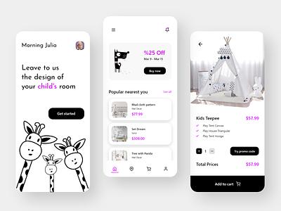Kid's Room Design dribbblers dribbble mobile app adobe xd illustration uxdesigner uidesigner uxdesign uidesign uiux android app design app ux ui minimal design