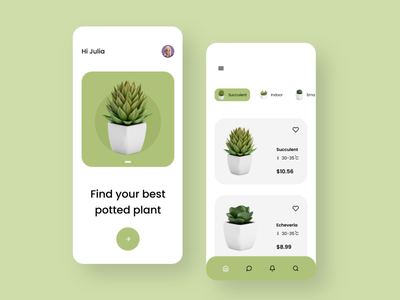 Plant app design webdesign web uxdesigner uidesigner uxdesign uidesign uiux ux ui logo branding icon typography vector illustration android app design app minimal design