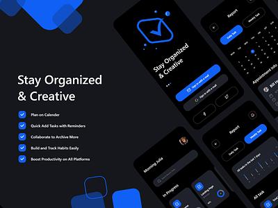 Task App Design uxdesigner uidesigner uxdesign uidesign uiux ux ui flat icon typography illustration branding logo app design app minimal design