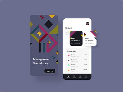 Management Money adobe xd figma uxdesign uidesign ux ui flat icon branding logo vector illustration android app design app minimal