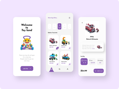 Toy App Design figma adobe xd dribbble userexperience userinterface uxdesign uidesign uiux ux ui flat illustration icon typography vector logo minimal