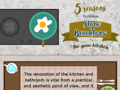 Stone Benchtops for your kitchen photoshop design illustration infographic