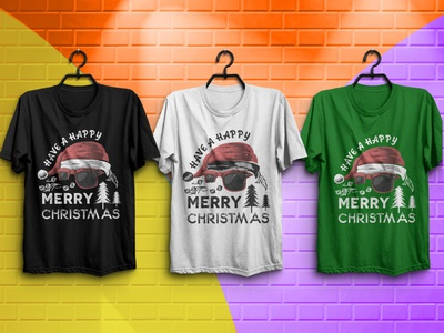 Christmas t-shirt Design most view profile most view t-shirt pro designer best short t-shirt 2020 fashion design illustration t-shirt designer aminul360