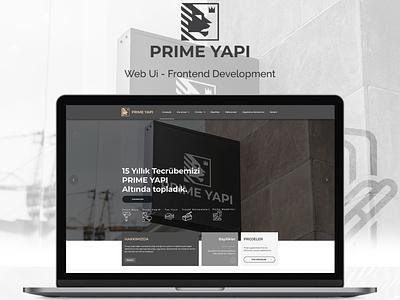 Prime Yapı Web Ui Design / Development development logo design ux ui webdesign