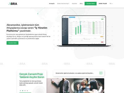 Abra Monitor - Professional Project management software figma html development css responsive logo design frontend development web ux ui