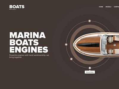 Boat- Manufacturer design html figma development css responsive frontend development web ux ui