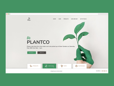 Plant.co Seed Growing Farm logo design html figma development css responsive frontend development web ux ui