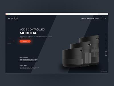 -amico. Lamp Ui Design web ui web design specialist clean ui design minimal dark colored orange light responsive ux