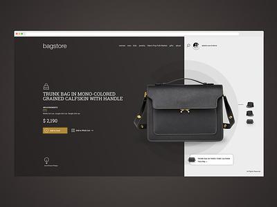 Bag store Ui Design carousel clean sale online buy shadow commerce store clean ui dark bag women ui