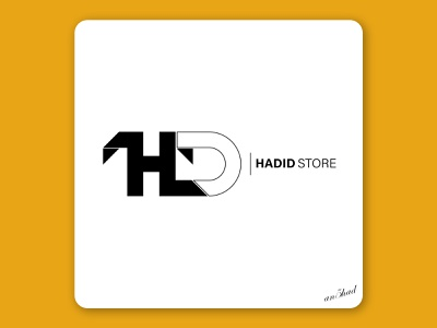 Hadid Store typography vector logo illustrator graphic design minimal illustration flat design branding