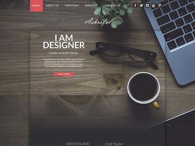 Portfolio Website Design psd template psd design portfolio design ux minimal web design ui