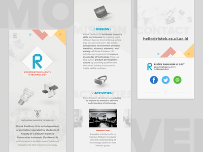 Ristek Fasilkom UI Website Mobile Ver. fasilkom ristek page landing ui mobile