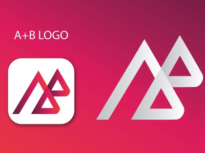 AB monogram logo modern logo creative logo stylish logo flat logo design web banner bannner facebookpost banner ads illustration typography vector branding animation logo