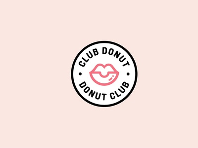 CLUB DONUT packaging design design ephemeras logo branding