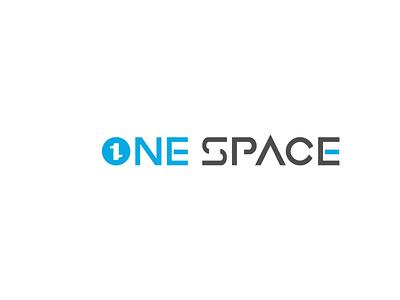 one space logo design lettermark geometric logos vector minimal illustration adobe illustrator wordmark logo typography logodesign