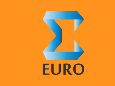 Euro LOGO design icon vector logo minimal lettermark illustration adobe illustrator wordmark logo typography logodesign