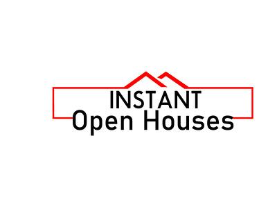 INSTANT house logo design logo minimal lettermark illustration adobe illustrator wordmark logo typography logodesign