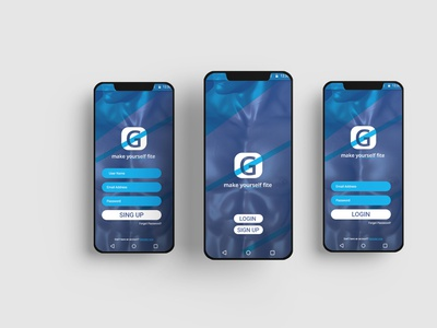 fitness ui design and prototype android app ui  ux mobile app mobail ui design ux ui design typography