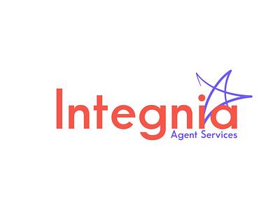 integnia logo design for client logo design vector minimal branding logo lettermark adobe illustrator wordmark logo logodesign typography