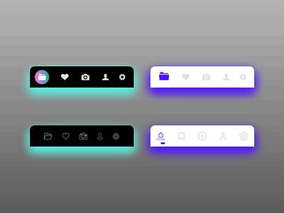 Adobe XD Bottom Navigation Animation ux navigate navigation menu navigation bar navigation bottom animation animation branding ui