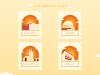 Los Angles  City Icon mobile clean web type graphic design art illustrator losangeles app logo icon ui design illustration city