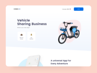 Vehicle Sharing - Cosmic Landing login landing page cars bikes ebikes scooter emojis design ui landingpage business landing cosmic sharing vehicles