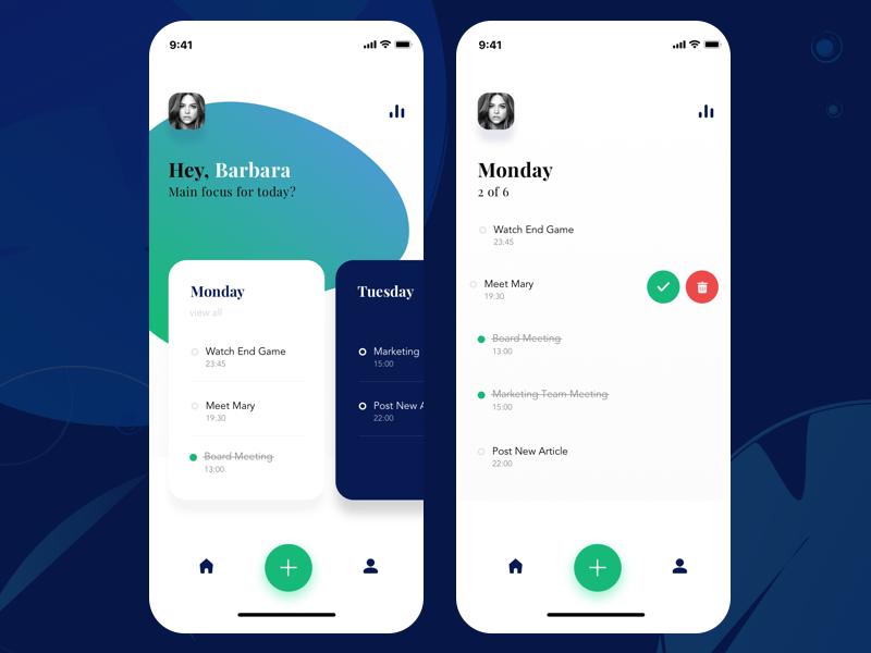 Todo Management swipe app  design mobile minimalistic sketch design app ui todo app tasks todo
