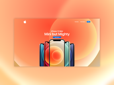 iPhone 12 Mini Orange iphone apple ux design website design website concept website web ui minimal