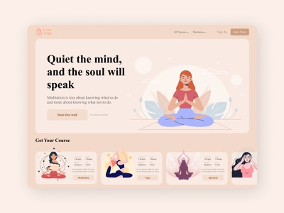 Yoga Website minimal design figmadesign figma website design website concept website web ui