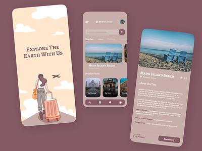 Travel Booking App uiux design uidesign appfortravel branding travel appdesign design website design website concept website web figma ui
