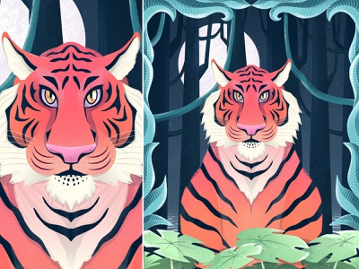 The Deception night illustration forest challenge accepted dribbbleweeklywarmup illustraion illustration art gfxmob tiger illustration tigers ux ui dribbblers logo procreate brushes procreate illustrator illustration dribbble best shot design art