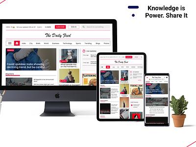 Responsive Newspaper Website minimal ux design app