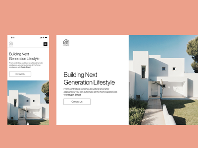 Rupin Landing Page design ui ux typography branding