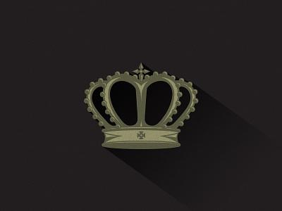 Crown long shadow shadow crown gold cross noise texture gray black logo logo design