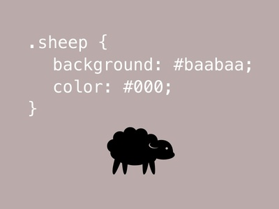 Have you any wool? css sheep black baabaa icon typography code