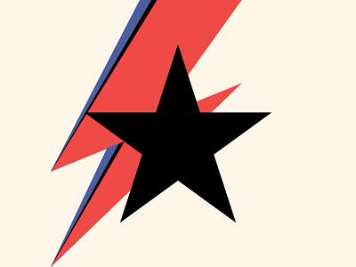 He's a Blackstar bowie blackstar lightning bolt david bowie black blue red bolt star