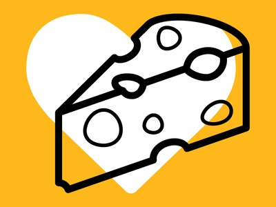 Rigatoni, you like-a more cheese? cheese lovers day national cheese lovers day fontawesome white yellow orange outline swiss love heart cheese