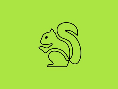 Appreciate the One-Lined Squirrels lime green one-liners day squirrel appreciation day contour animal squirrel outline line black green