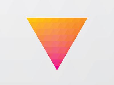 Triangle Gradient pride mask gradient triangles triangle gray pink magenta orange