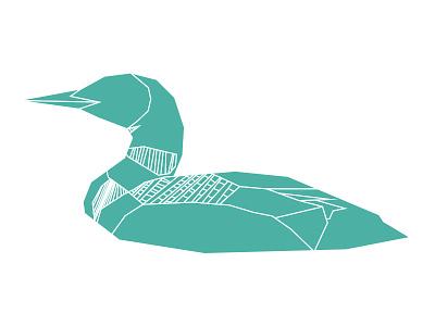 Loon adobe illustrator one color illustrator geometric lines line illustration animal loon