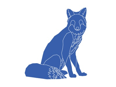 Fox one color adobe illustrator fox lines line illustrator illustration geometric animal