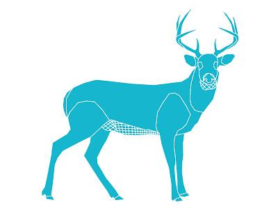 Deer stag one color adobe illustrator lines line illustrator illustration geometric deer animal