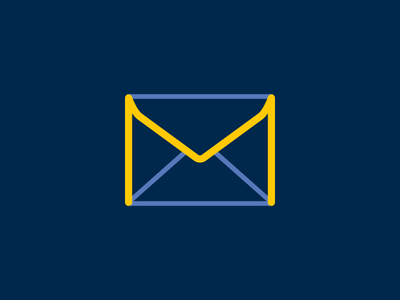 """M""velope university of michigan maize blue m icon envelope"
